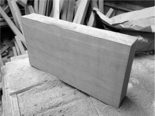 Cherry table top, ready for resawing